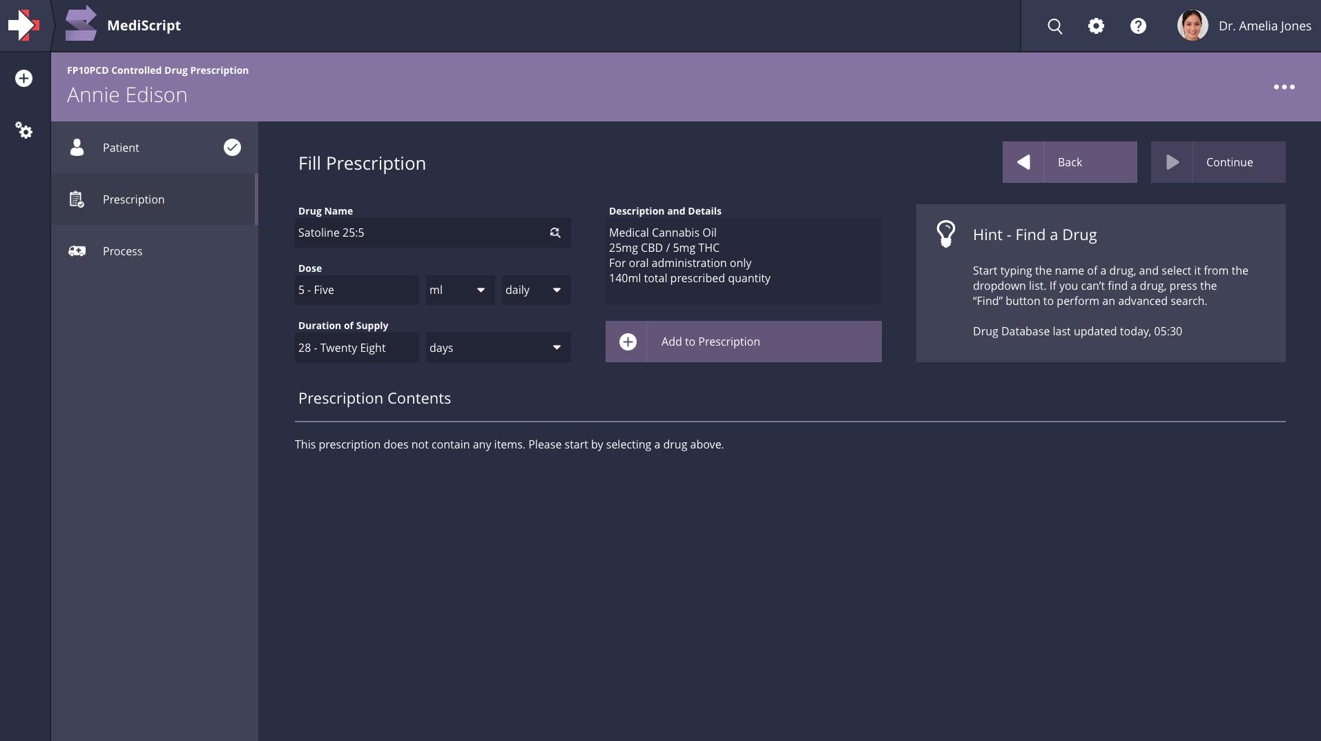 MediScript Builder